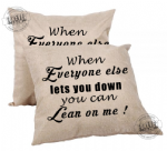 Lean On me cushion